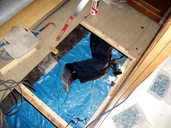 床下地補強工事
