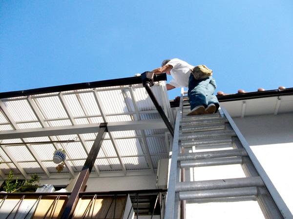 屋根波板張替え工事